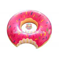 Wholesale Commercial Use Inflatable Pool Floats Pink Chocolate Donuts Floating Ring from china suppliers