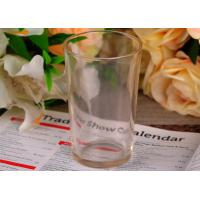 Quality Clear Tempered tumbler drinking glasses for Juice , Lead free for sale