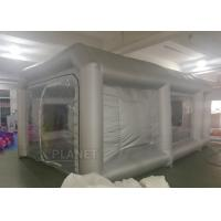 Quality 6x4x3m UV resistant Silver inflatable car spray booth mobile inflatable painting for sale