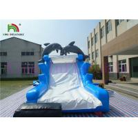 Wholesale Blue White Dolphin PVC Inflatable Dry Slide With Board Slide And CE Blower from china suppliers