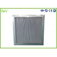 Wholesale H11 H12 H13 Deep Pleated Hepa Filter , Hepa Furnace Filter With Large Dust Holding Capacity from china suppliers