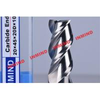 Wholesale HRC50 End Mill Bits For Aluminum 3 Flute No Coating Grain Size 0.8 um Bright Surface from china suppliers