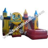 Wholesale Inflatable Happy Face Wet Dry Combo,happy face bouncer,inflatable crayonland combo from china suppliers
