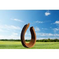 Buy cheap Abstract Garden Corten Steel Sculpture With Circle Shape As Residence Ornament from wholesalers