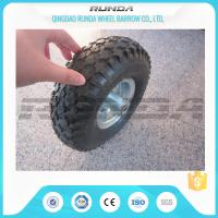 Wholesale Staright Valve Pneumatic Rubber Wheels , Pneumatic Caster Wheels 3.50-6 Steel Rim from china suppliers