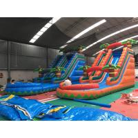 Wholesale Colorful Coconut Tree Wet And Dry Inflatable Slide For Advertising from china suppliers