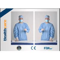 Buy cheap Sterile Disposable Protective Gowns Nonwoven Gowns With Knitted Cuff Medical from wholesalers
