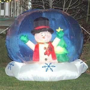 China Christmas Advertising PVC Tarpaulin PVC Giant Inflatable Human Snowing Globe on sale