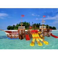 Wholesale Pirate Ship Water Playground Equipment / Indoor Commercial Playground Slides from china suppliers