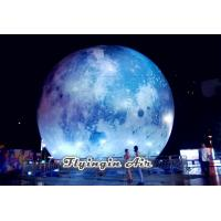 Wholesale 5m/6m Outdoor Decorative Inflatable Moon with Light for Party and Concert from china suppliers