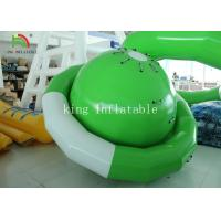 Quality Green / White UFO Shape PVC Tarpaulin Inflatable Floating Saturn Water Toy For Climbing for sale