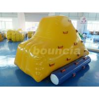 Wholesale 0.9mm PVC Tarpaulin Inflatable Iceberg With 2 Sides Climbing For Pool from china suppliers