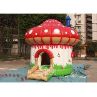 Wholesale Indoor / Outdoor Kids Mushroom Inflatable Bounce Houses Commercial from china suppliers
