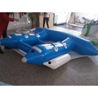 Wholesale Green Blue 0.9mm PVC Water Sports Banana Boat 4m * 3m/3m*2.3 M from china suppliers