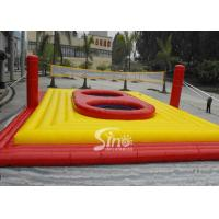 Wholesale Commercial Customized outdoor giant inflatable volleyball court with trampoline for adults interactive games from china suppliers
