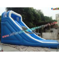 Wholesale Customised 18 OZ PVC Dolphin Commercial Inflatable Slides For Amusement Parks 8 x 4 x 5M from china suppliers