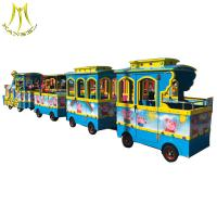 Wholesale Hansel outdoor battery trackless train electric for sales amusement park rides from china suppliers