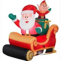 Wholesale Small  outside christmas inflatables customized Santa Claus for common promotion from china suppliers