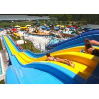 Wholesale 4 / 5 Lane Custom Water Slides Highspeed Racing Slides For Giant Aqua Park from china suppliers