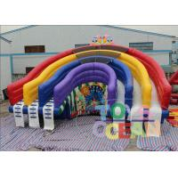 Wholesale Colorful Rainbow Inflatable Pool Water Slide Inflatable Rainbow Water Slide For Pool from china suppliers