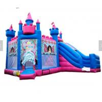 Quality Princess Inflatable Bounce House Combo / Jumpy House With Slide OEM Service for sale