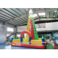 China Strong Kids Inflatable Climbing Wall , Inflatable Rock Climbing Wall For Backyard on sale