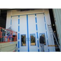 20 Meters Side Downdraft Paint Booth , Bus Spray Booth With Lifting Platform