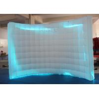 Wholesale Large White Inflatable Photo Booth Curved Shape With Colorful Led Light from china suppliers