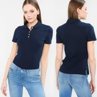Quality Wholesale Summer Fashion Polo shirt Women Clothing Tops With Button for sale