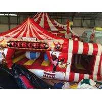 Quality Large Inflatable Fun City Cute Circus Clown Jumping House For Toddler for sale