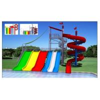 Wholesale Rainbow Color Kids Water Slides , Easy Installation Water Park Amusement Equipment from china suppliers