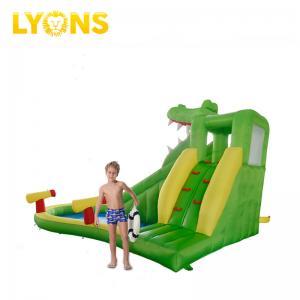 China Green Gonfiabili Min Crocodile Inflatable Water Slide For Kids Happy Hop Design on sale