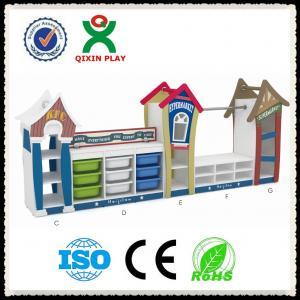 Wholesale China Hot sale kids wooden toy shelf toys storage shelf kindergarten toys shelf QX-199B from china suppliers