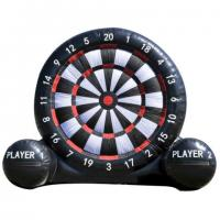 Wholesale Outdoor Giant Inflatable Outdoor Games Velcro Dart Board With Balls Custom Logo from china suppliers