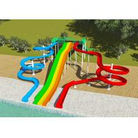 Wholesale Commercial Water Park Design Slides , Spiral FRP Water Play Design from china suppliers