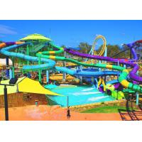 China Attractive Spiral Open Tube Water Park Water Slide 1m Diameter 3 Guests Per Time on sale