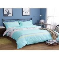 Wholesale Soft And Comfortable Cotton Bedding Sets / Green And White Bed Comforter Cover from china suppliers