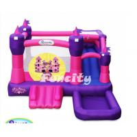 China Princess Pink Castle Inflatable Bouncy Castle With Slide For Sale on sale