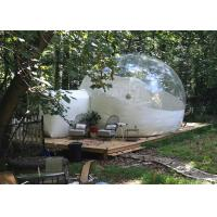 Quality 4 M Inflatable Lawn Tent Clear Bubble , Inflated Bubble Tent With Frame Tunnel for sale