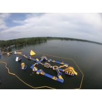 Wholesale Outdoor Inflatable Water Park 50m*34m Maximum 120 People Capacity from china suppliers