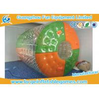 Quality Custom Color Dots Inflatable Water Roller Rolling Down Hill With CE Blower / Pump for sale