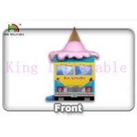 China Commercial Colorful PVC Ice Cream Van Inflatable Jumping Castle Kids Jumping Space on sale