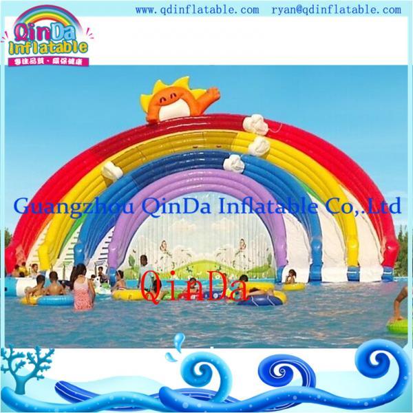 Quality GZ QinDa Inflatable Giant Water Slide for Amusement Park Aqua Park Water Slide for Sale for sale
