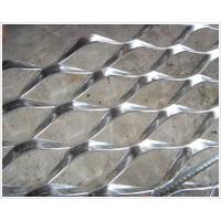 China Decorative Aluminum Expanded Mesh Sheet , Diamond Wire Mesh Panels Raised Expanded on sale