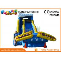 Wholesale Giant Commercial Inflatable Water Slide / Inflatable Wipe Out Slide from china suppliers