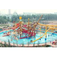 Wholesale Big Interactive Fiberglass Water Play House With Water Slide / Aqua Park Equipment from china suppliers
