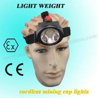 Wholesale 3.7 V Mini Msha Approved Cap Lamps 4000lux 2.8Ah For Construction / Marine from china suppliers