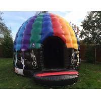 Party theme rainbow colorful inflatable disco dancing music dome bouncy castle