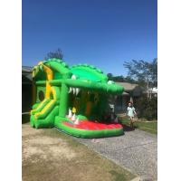 Crocodile Inflatable Bounce House Combo Double Stitching For Family Center