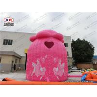 Wholesale Cute Pink Event Inflatable Outdoor Tent , Inflatable Lawn Tent from china suppliers